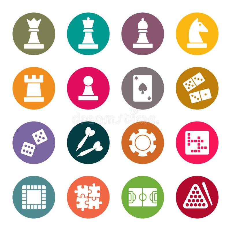 Icone di tema dei giochi Illustrazione di vettore illustrazione vettoriale