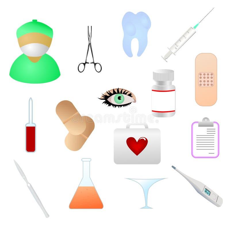 Icone di tema mediche illustrazione vettoriale