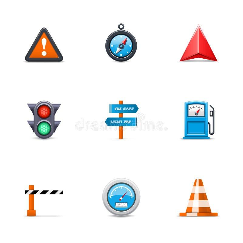 Icone Di Traffico Fotografia Stock Libera da Diritti