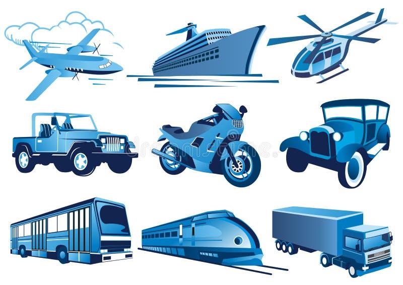 Icone di trasporto immagine stock