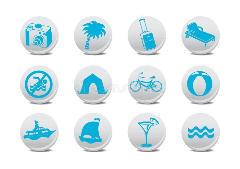 Icone di turismo illustrazione vettoriale
