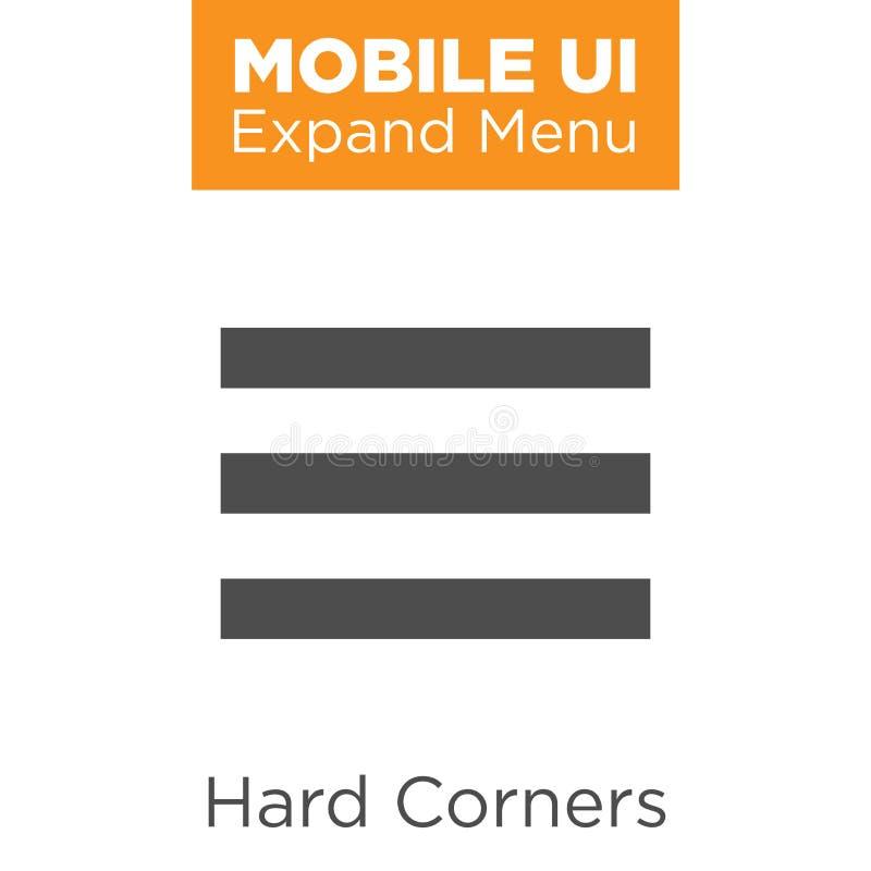 Icone di UX e di UI per il cellulare o le applicazioni web royalty illustrazione gratis