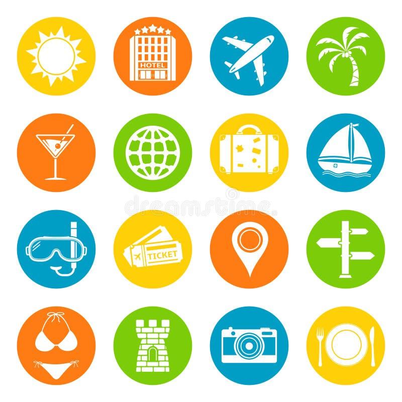 Icone di vacanza messe royalty illustrazione gratis