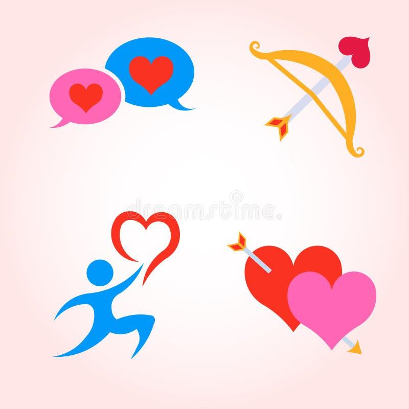 Icone di Valentine Day Insieme di vettore royalty illustrazione gratis
