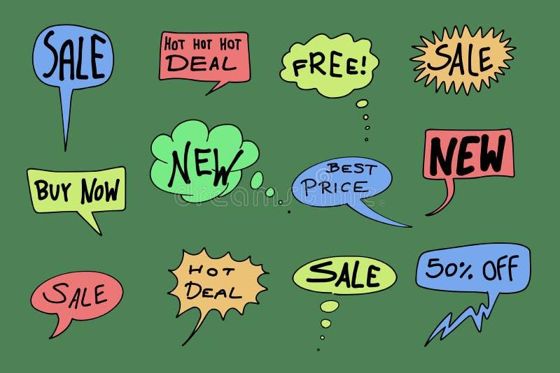 Icone di vendita royalty illustrazione gratis