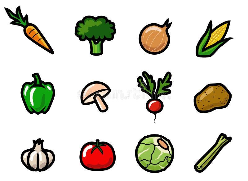 Icone di verdure illustrazione di stock