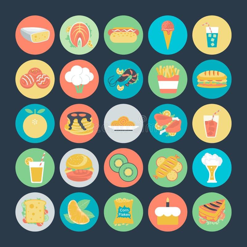 Icone 2 di vettore alimentari illustrazione vettoriale