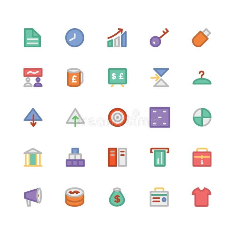 Icone 4 di vettore colorate commercio illustrazione di stock