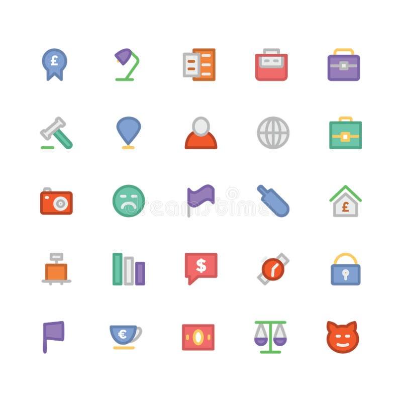 Icone 3 di vettore colorate commercio illustrazione di stock