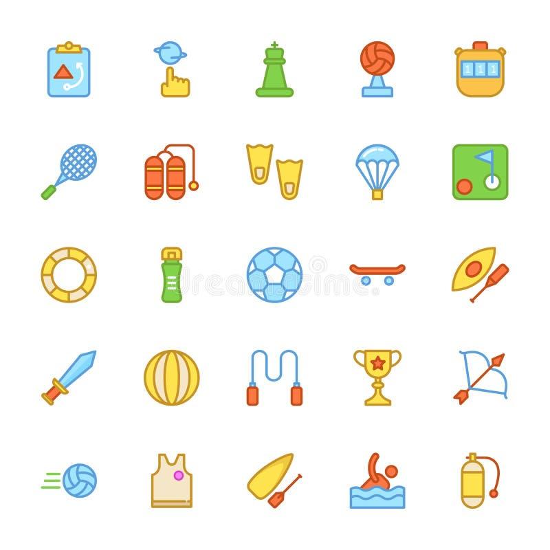 Icone 3 di vettore colorate sport royalty illustrazione gratis