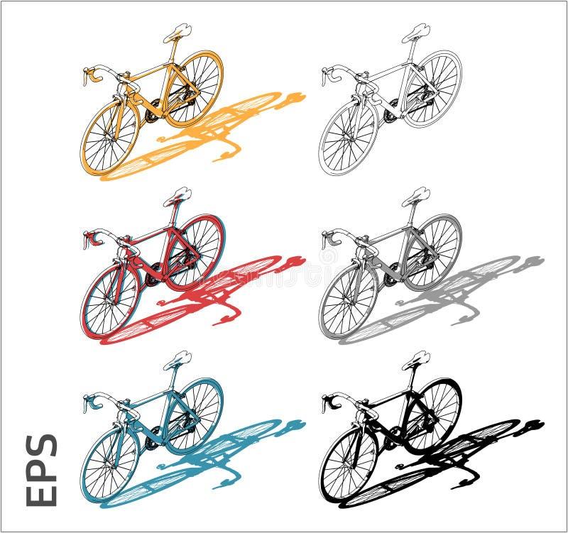 Icone di vettore del ciclo messe per il disegno e l'illustrazione architettonici illustrazione di stock
