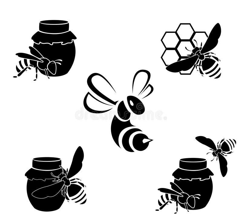 Icone di vettore del miele royalty illustrazione gratis