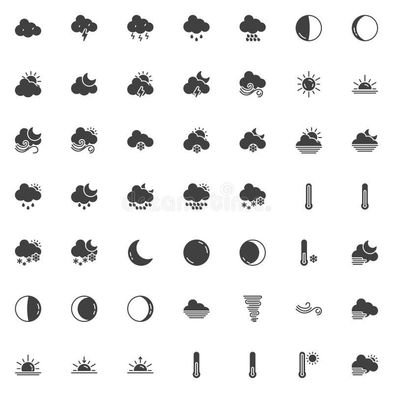 Icone di vettore del tempo messe illustrazione vettoriale