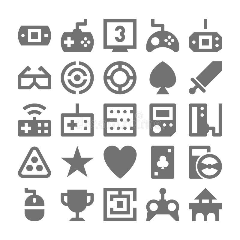 Icone 3 di vettore del video gioco illustrazione di stock