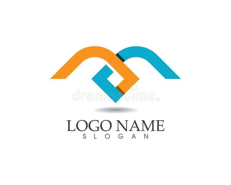 Icone di vettore della lettera m. tale logos illustrazione di stock
