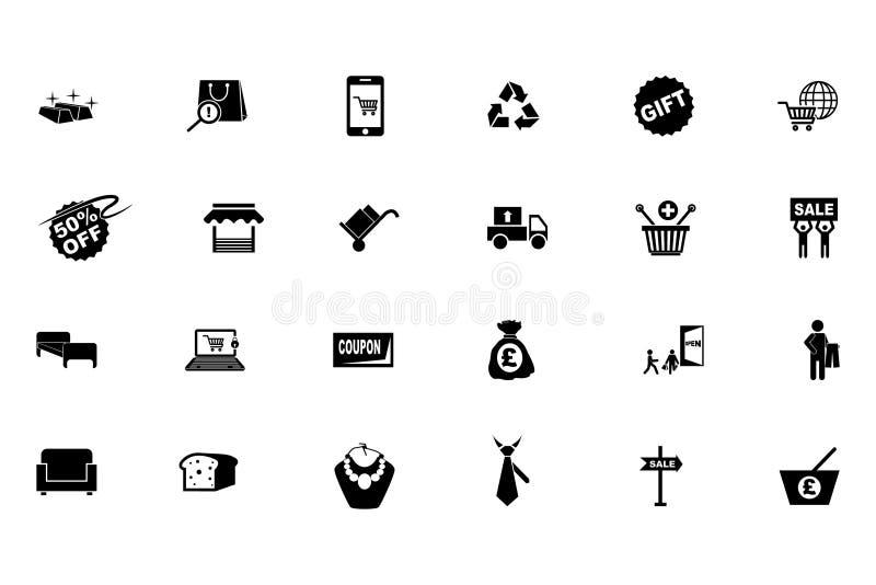 Icone 4 di vettore di acquisto illustrazione vettoriale