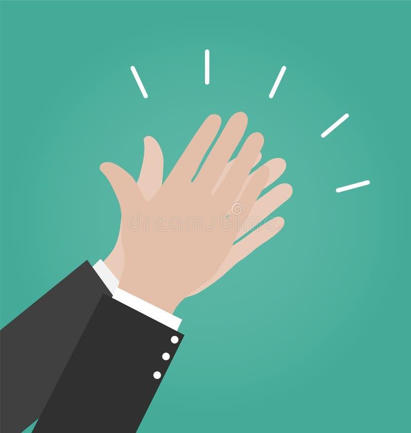 Icone di vettore di applauso di mani, icona di applauso illustrazione di stock