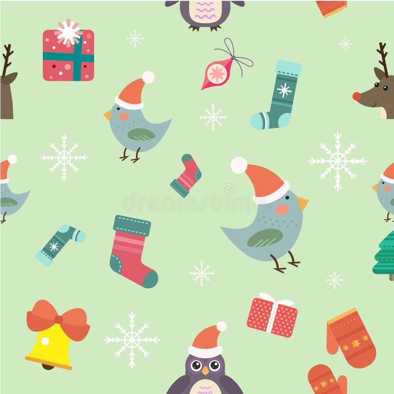 Icone di vettore di Natale messe illustrazione di stock