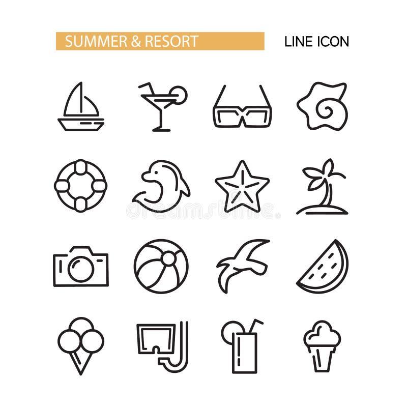Icone di vettore di ora legale messe illustrazione vettoriale