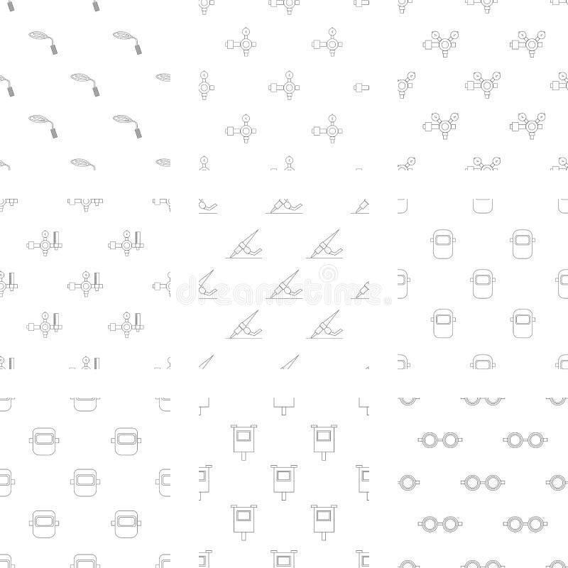 Icone di vettore messe per il saldatore illustrazione vettoriale