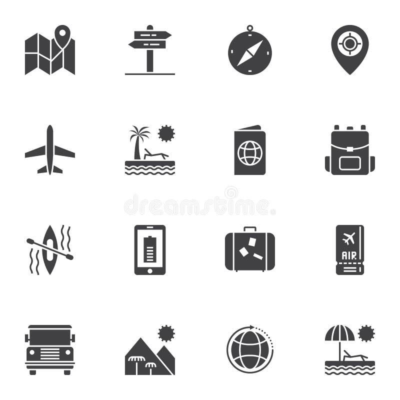 Icone di vettore di viaggio messe royalty illustrazione gratis