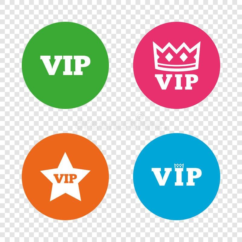 Icone di VIP Simboli della persona molto importante royalty illustrazione gratis