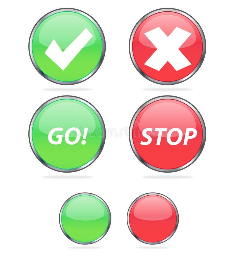 Icone di voto illustrazione di stock