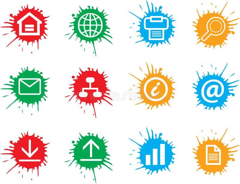 Icone di Web fotografie stock libere da diritti