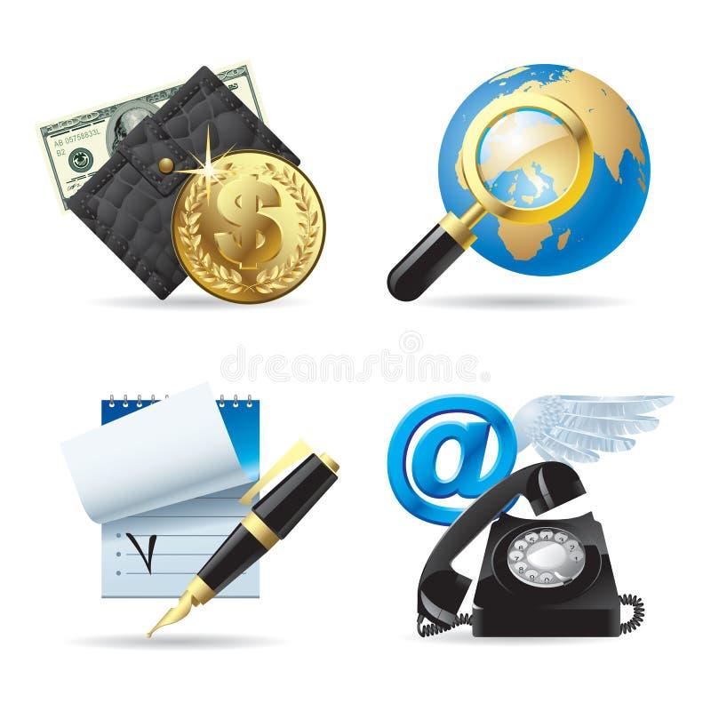 Icone di Web & del calcolatore I illustrazione vettoriale