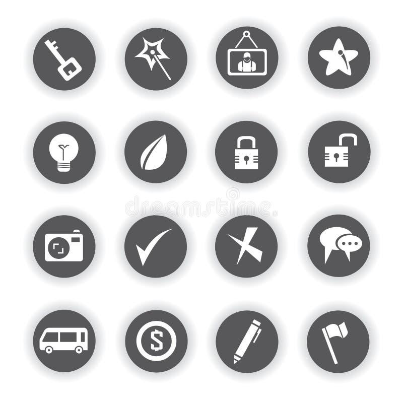 Icone di web, bottoni rotondi illustrazione di stock