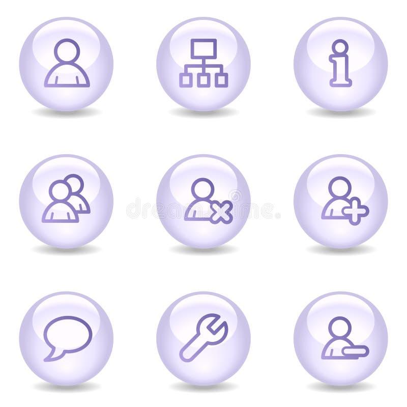 Icone di Web degli utenti, serie lucida della perla royalty illustrazione gratis