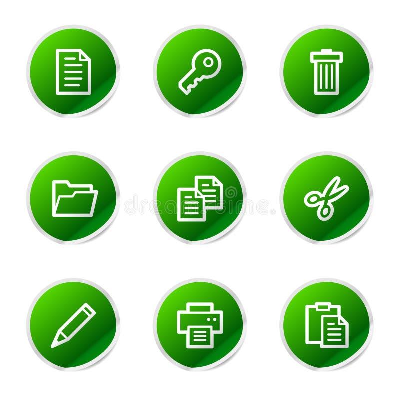 Icone di Web del documento illustrazione vettoriale