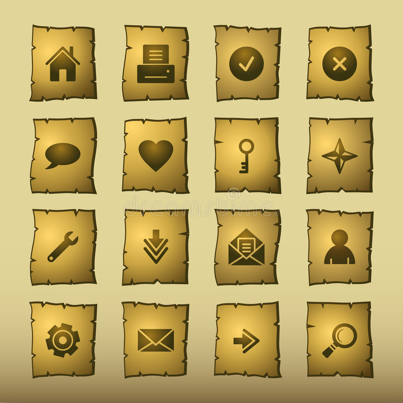Icone di Web del papiro