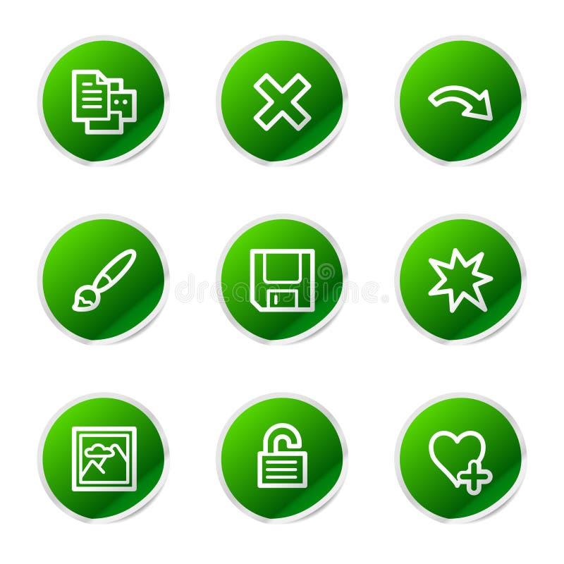 Icone di Web del visore 2 di immagine illustrazione di stock