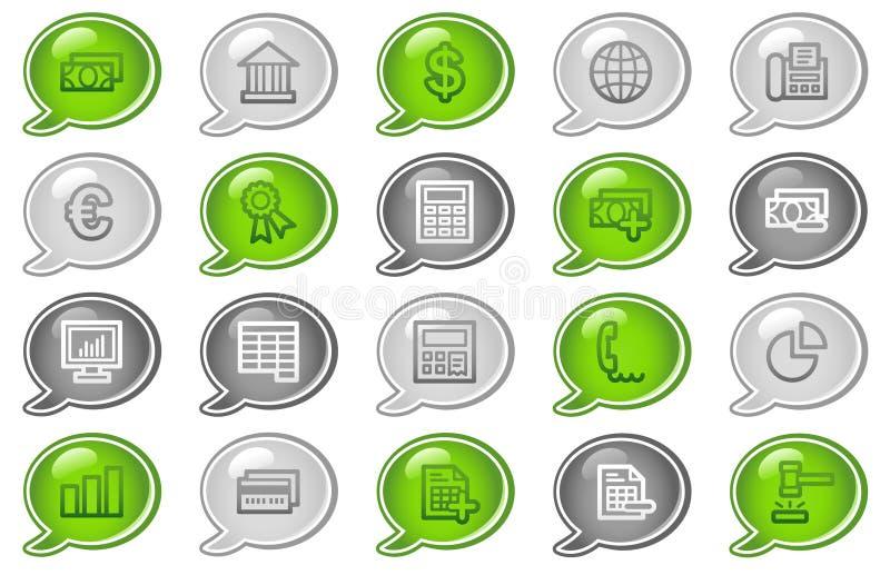 Icone di Web di attività bancarie illustrazione di stock