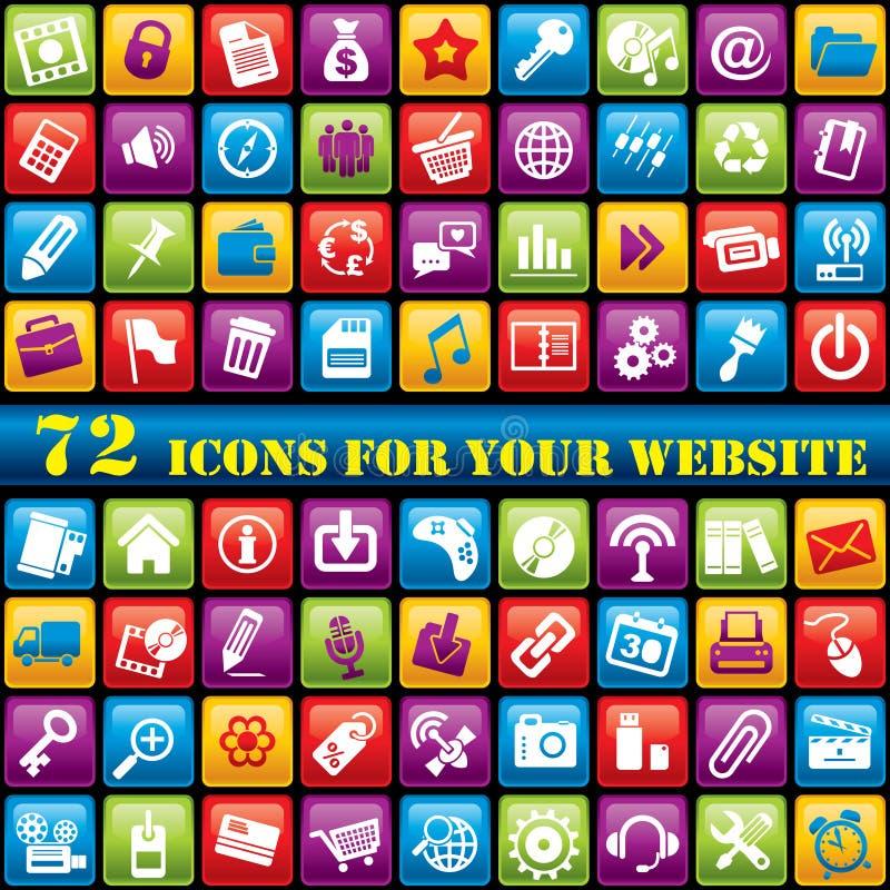Icone di Web di colore illustrazione vettoriale