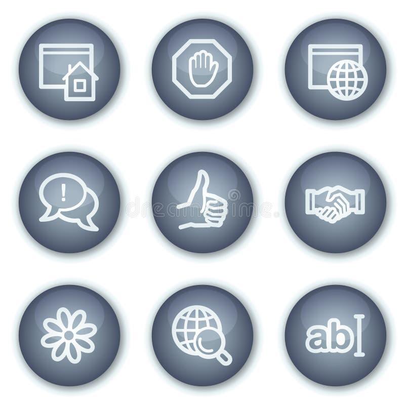 Icone di Web di comunicazione del Internet, cerchio minerale