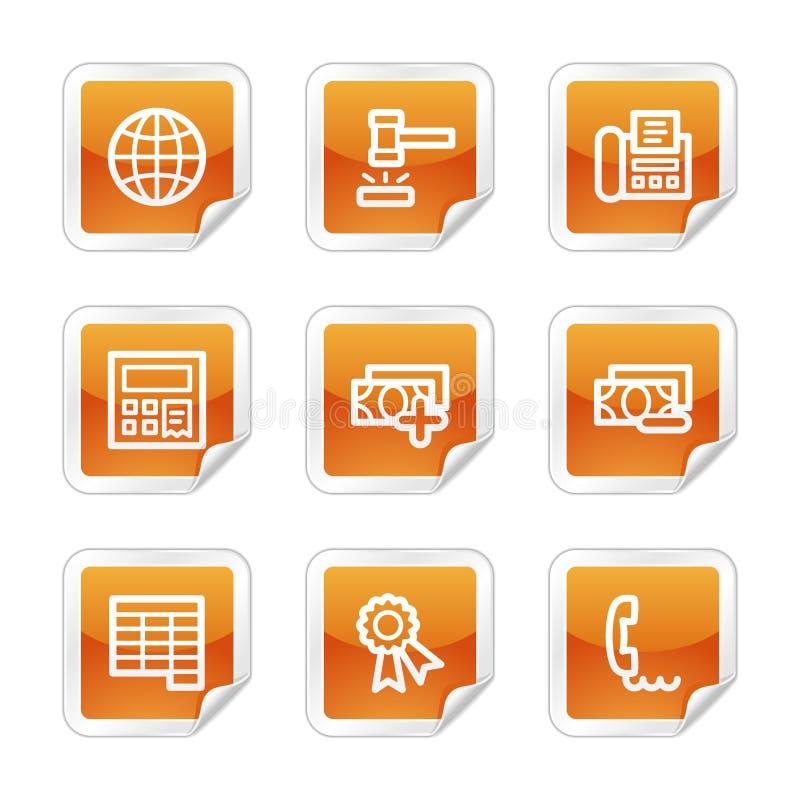 Icone di Web di finanze 2 illustrazione vettoriale