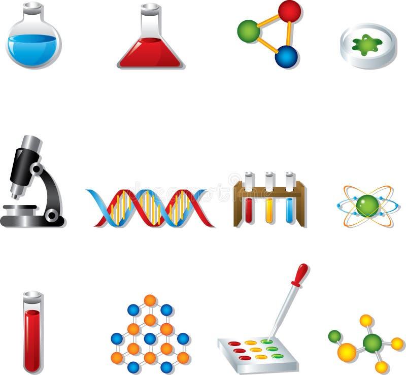 Icone di Web di scienza royalty illustrazione gratis
