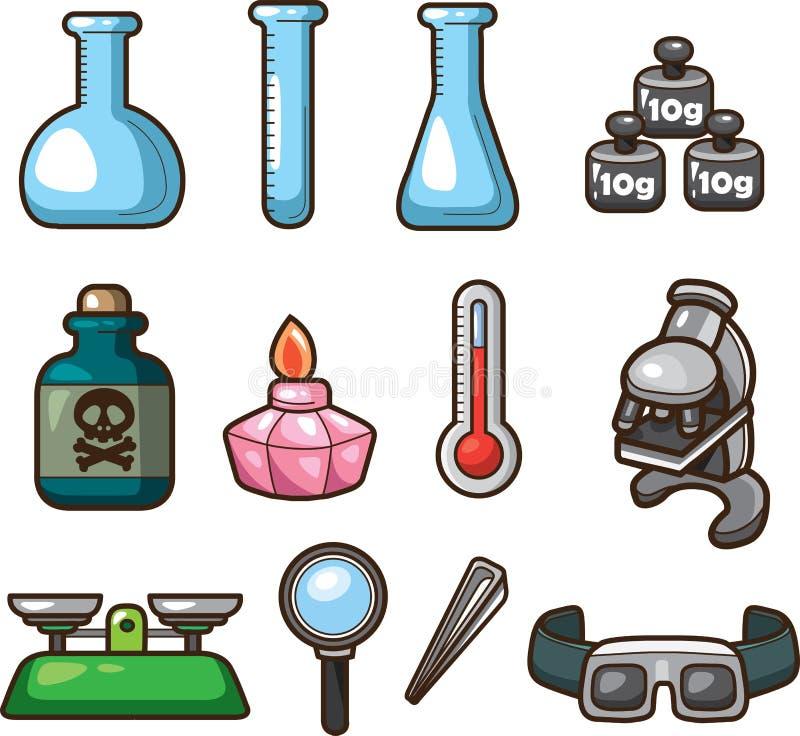 Icone di Web di scienza illustrazione vettoriale