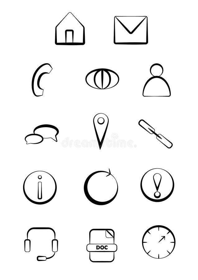 Icone di web e di affari di vettore royalty illustrazione gratis