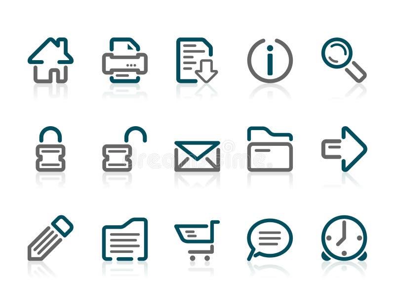 Download Icone Di Web E Del Internet Del Profilo Illustrazione Vettoriale - Illustrazione di serratura, freccia: 3885145