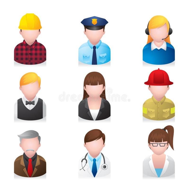 Icone di Web - gente professionale 2 royalty illustrazione gratis