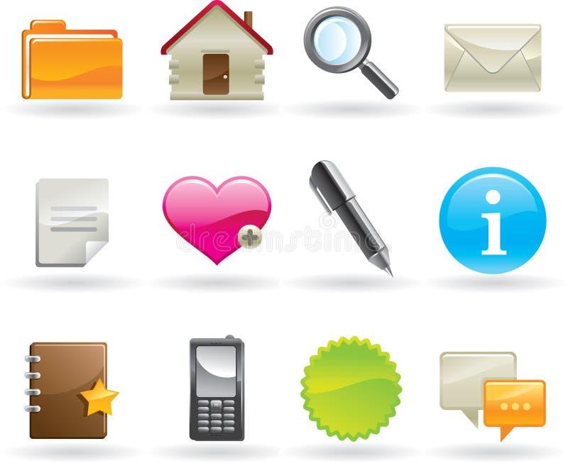 Icone di Web impostate illustrazione vettoriale