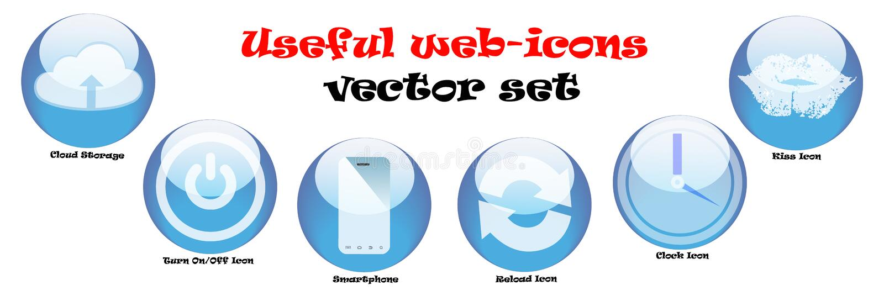 Icone di web messe royalty illustrazione gratis