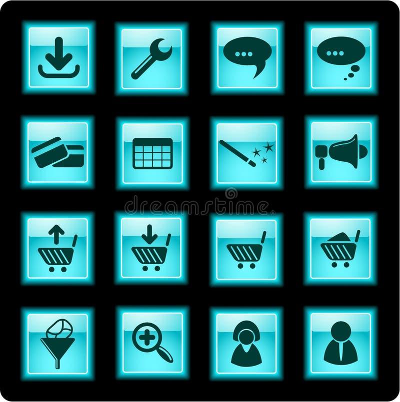 Icone di Web site fotografia stock