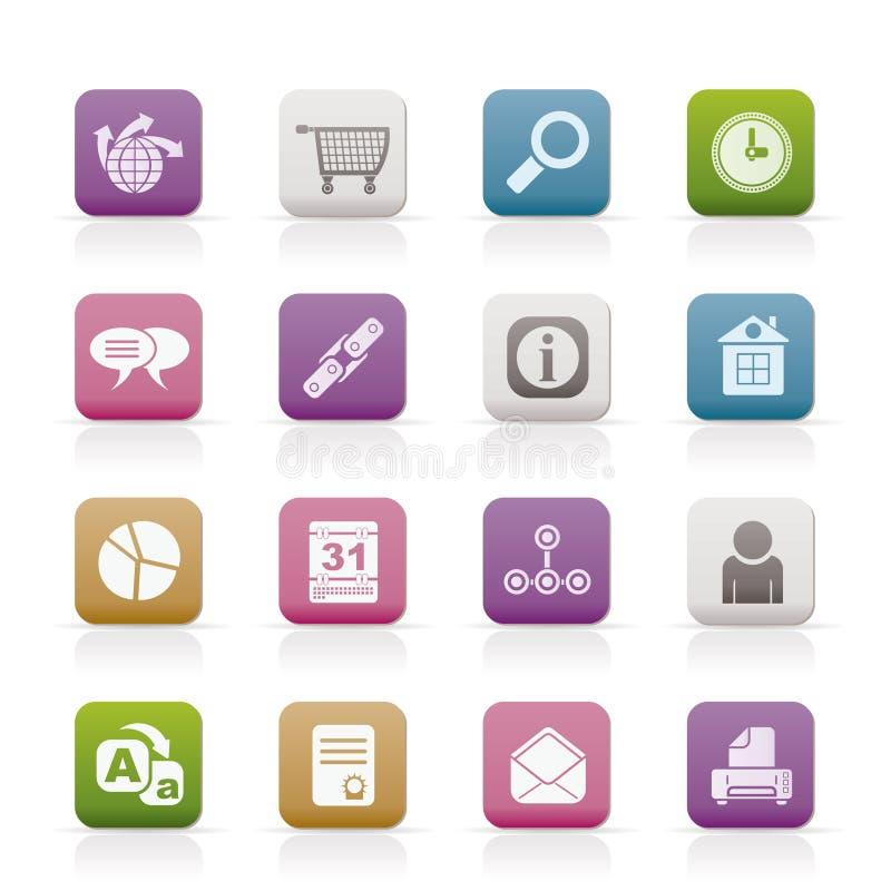 Icone di Web site, del Internet e del calcolatore royalty illustrazione gratis