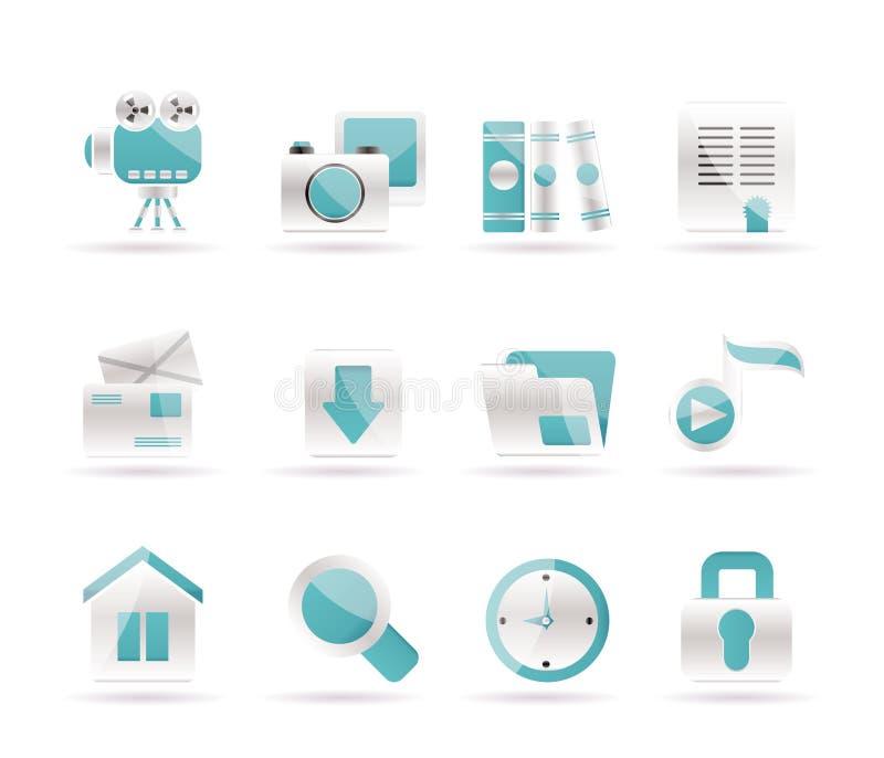 Icone di Web site e del calcolatore royalty illustrazione gratis