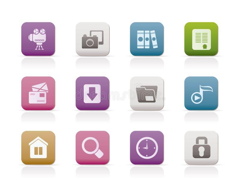 Icone di Web site e del calcolatore illustrazione di stock