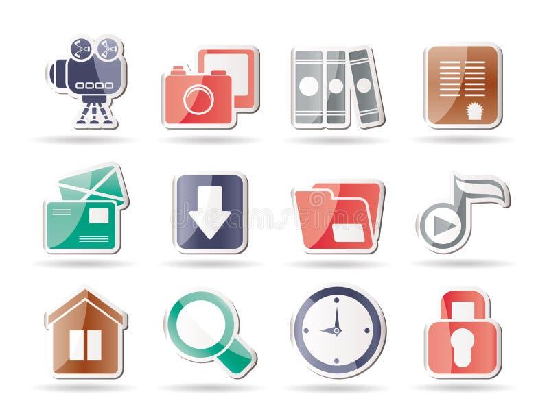 Icone di Web site e del calcolatore illustrazione vettoriale